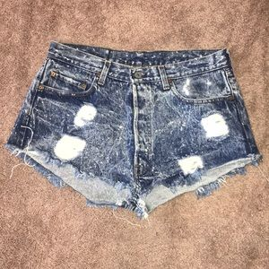 Levi Strauss & Co SF CAL high waist shorts.